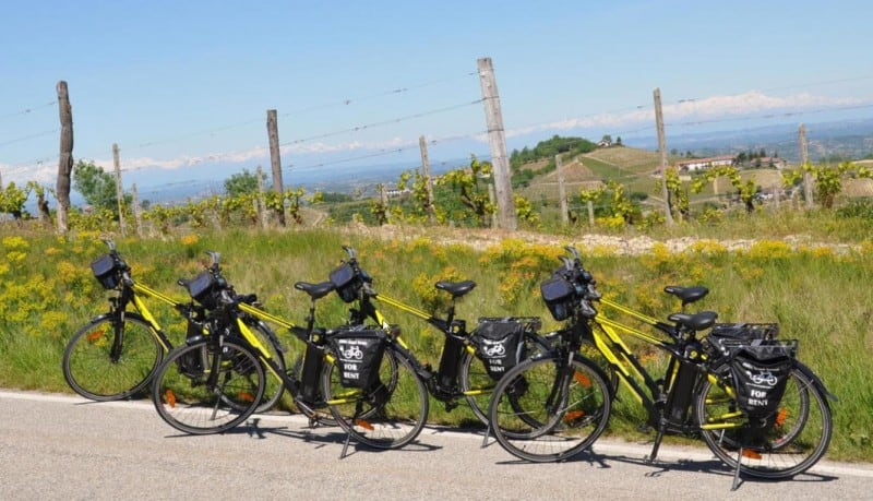 Vijf fietsen Ebikes